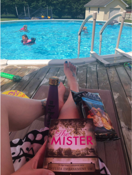 The Mister Book Review, book by the pool